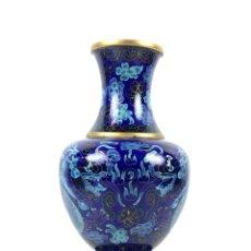 Antigüedades: JARRÓN ORIENTAL. CLOISONNÉ ESMALTADO. CHINA. SIGLO XX.. Lote 134540950