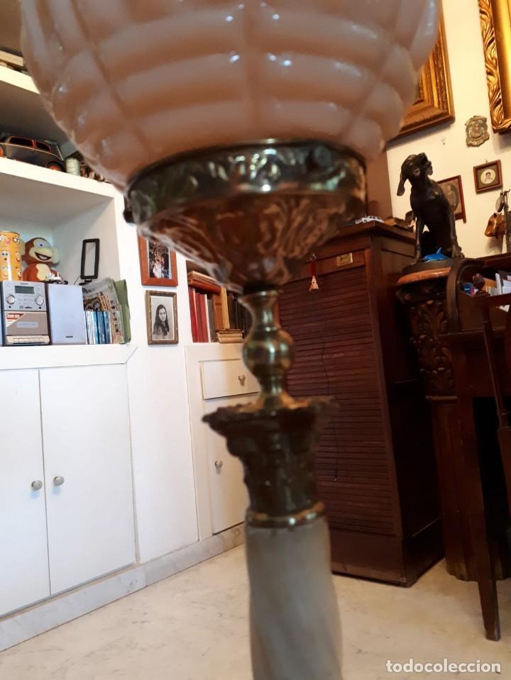Antigüedades: Lámpara antigua mesa escritorio despacho - Foto 16 - 134535902