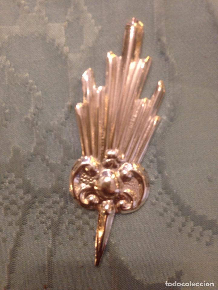 Antigüedades: Potencias de metal con baño plata, 5 cm - Foto 5 - 134545170