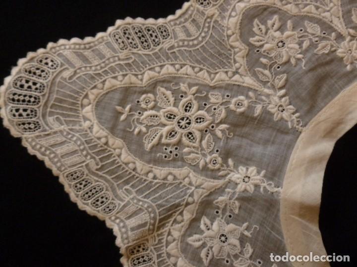 Antigüedades: ANTIGUA CAPELINA DE MUSELINA BORDADA - IMAGEN - NOVIA S.XIX - Foto 4 - 134550062