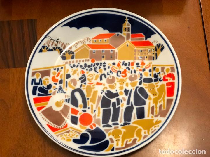 PLATO EDICION NUMERADA DE SARGADELOS XAQUIN MARIN - A FEIRA (Antiquitäten - Porzellan und Keramik - Sargadelos)