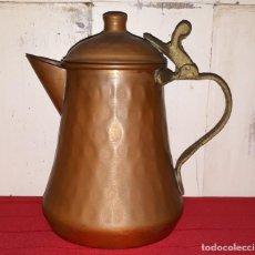 Antigüedades: TETERA DE COBRE. Lote 134571686