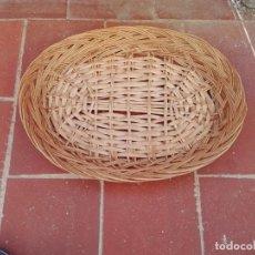 Antigüedades: BANDEJA DE MIMBRE. Lote 134590210