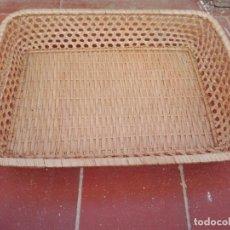 Antigüedades: BANDEJA DE MIMBRE. Lote 134591826