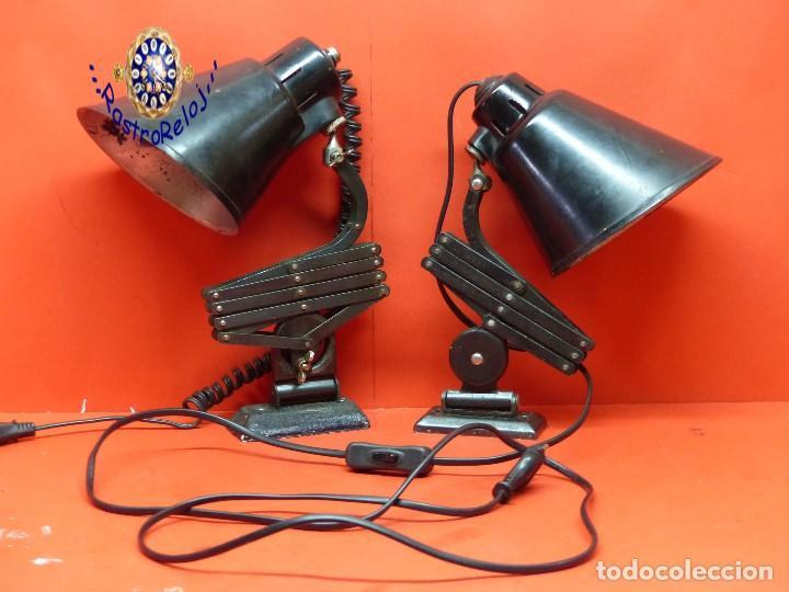 ,,,PAREJA DE ANTIGUOS FLEXOS,,,MARCA BOMETAL,,, (Antigüedades - Iluminación - Lámparas Antiguas)