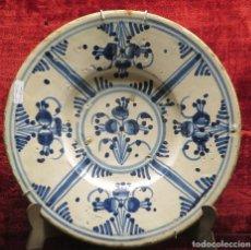 Antigüedades: PLATO DE CERAMICA. CATALUÑA. SIGLO XVIII. Lote 134672654