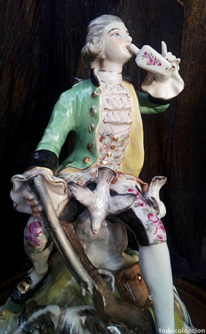 Antigüedades: Figura de porcelana alemana. Finales del siglo XIX. De gran detalle y belleza. - Foto 3 - 134683863