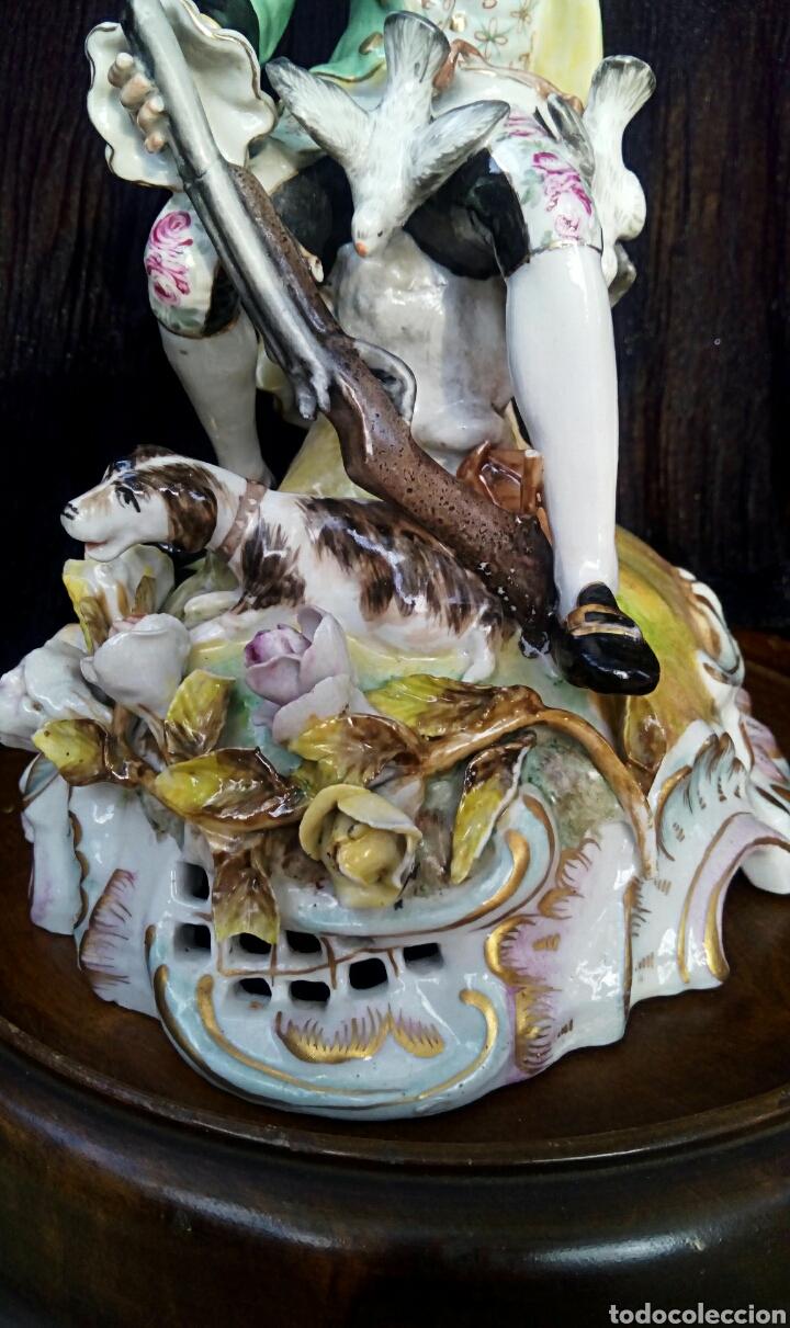 Antigüedades: Figura de porcelana alemana. Finales del siglo XIX. De gran detalle y belleza. - Foto 4 - 134683863
