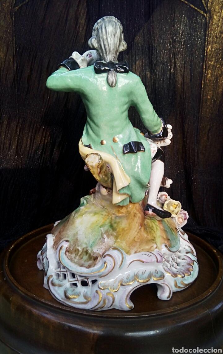 Antigüedades: Figura de porcelana alemana. Finales del siglo XIX. De gran detalle y belleza. - Foto 5 - 134683863