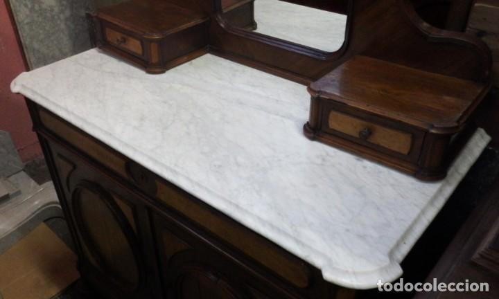 Antigüedades: TOCADOR CÓMODA DE NOGAL Y RAIZ DE LIMONCILLO. - Foto 2 - 134735974