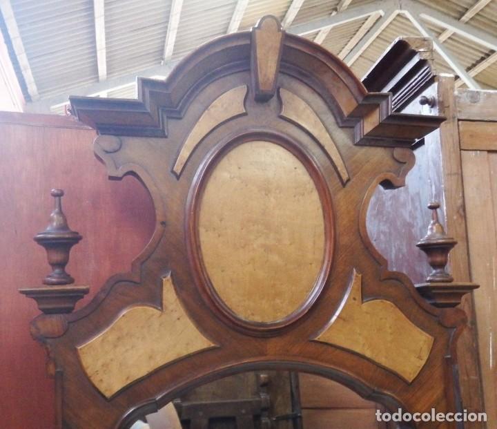 Antigüedades: TOCADOR CÓMODA DE NOGAL Y RAIZ DE LIMONCILLO. - Foto 9 - 134735974