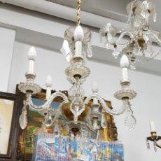Antigüedades - Lámpara de techo de cristal de roca años 30 - 134746537