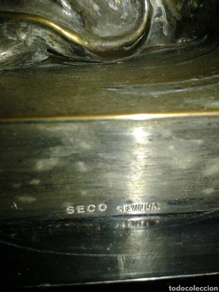 Antigüedades: ANTIGUO NAZARENO EN METAL - Foto 10 - 134752278