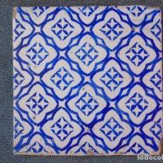 Antigüedades: AZULEJO ANTIGUO, AZUL Y BLANCO. . Lote 134753466
