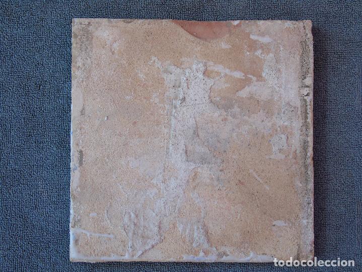 Antigüedades: AZULEJO ANTIGUO, AZUL Y BLANCO. - Foto 2 - 134753466