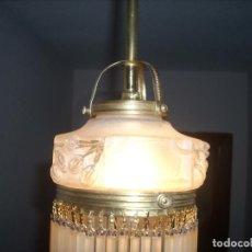 Antigüedades: PEQUEÑA LAMPARA DE TECHO ORIGINAL ART DECO O MODERNISTA RESTAURADA Y REELECTRIFICADA. Lote 134759582