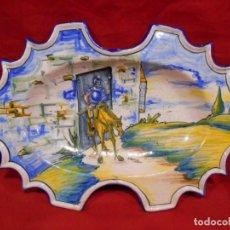 Antigüedades: ORIGINAL FUENTE - PLATO DE CERAMICA DE TALAVERA CERAMISTA SASO. Lote 134789638
