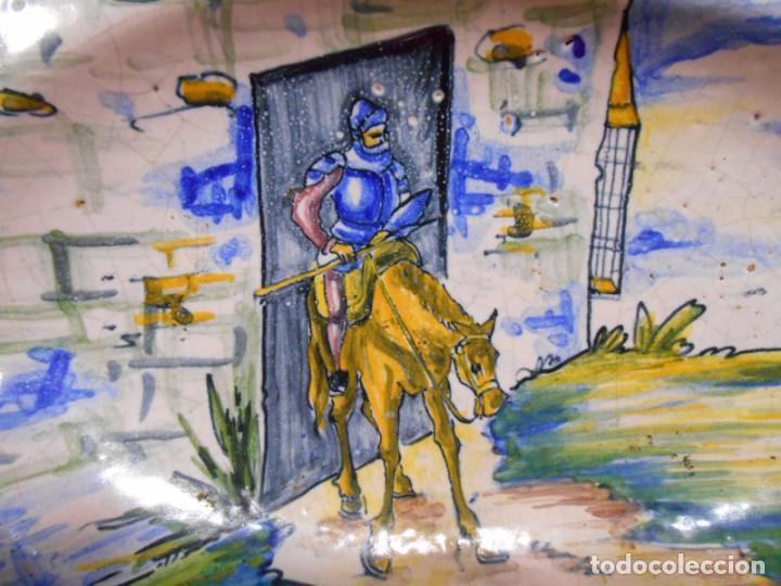 Antigüedades: ORIGINAL FUENTE - PLATO DE CERAMICA DE TALAVERA CERAMISTA SASO - Foto 2 - 134789638