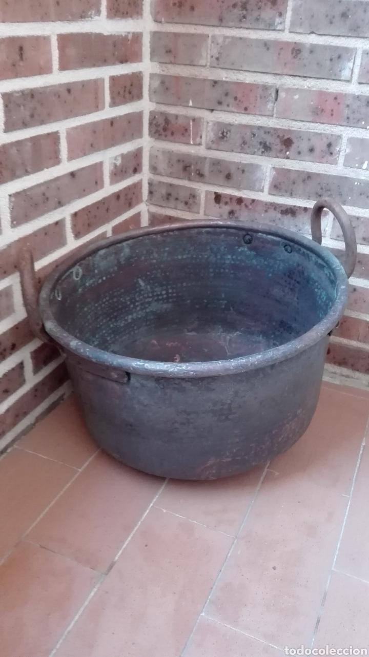 CALDERO COBRE (Antigüedades - Técnicas - Rústicas - Utensilios del Hogar)