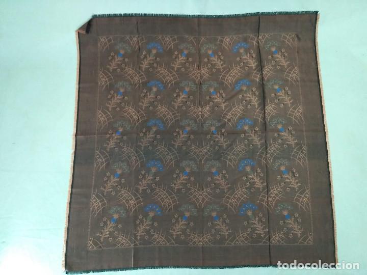 Antigüedades: Pañuelo brocado en seda - Foto 3 - 134801358