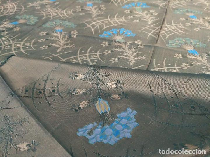 Antigüedades: Pañuelo brocado en seda - Foto 5 - 134801358