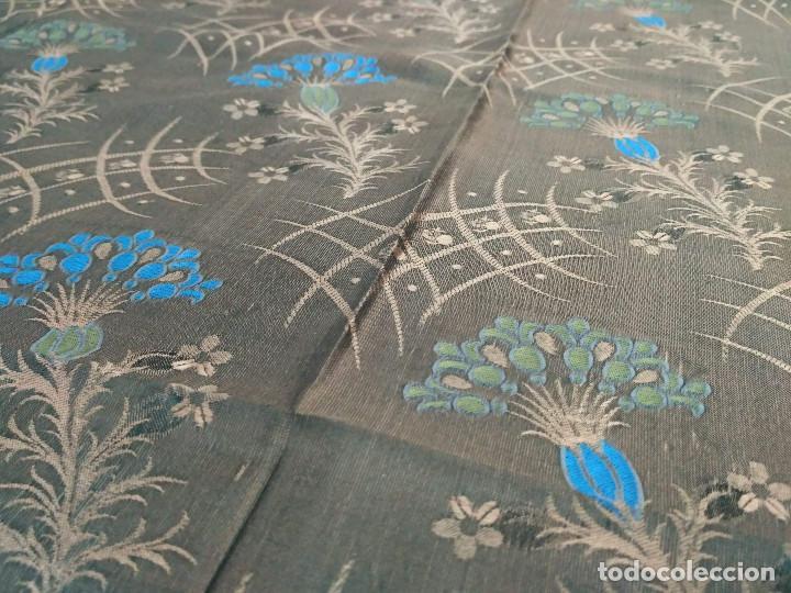 Antigüedades: Pañuelo brocado en seda - Foto 6 - 134801358