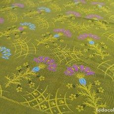 Antigüedades - Pañuelo brocado en seda, amarillo verdoso - 134801654