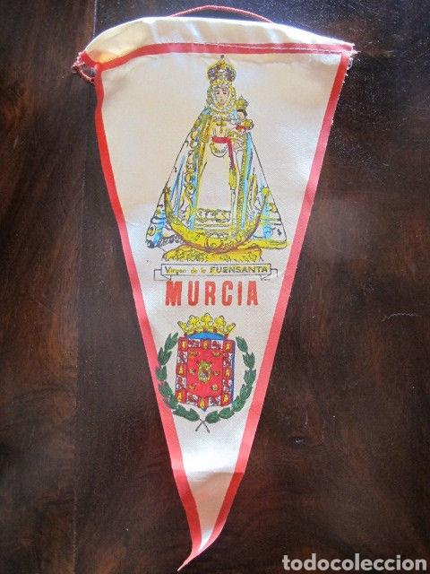 Antigüedades: Bonito banderin nuestra señora de la fuensanta virgen Murcia - Foto 2 - 134802513