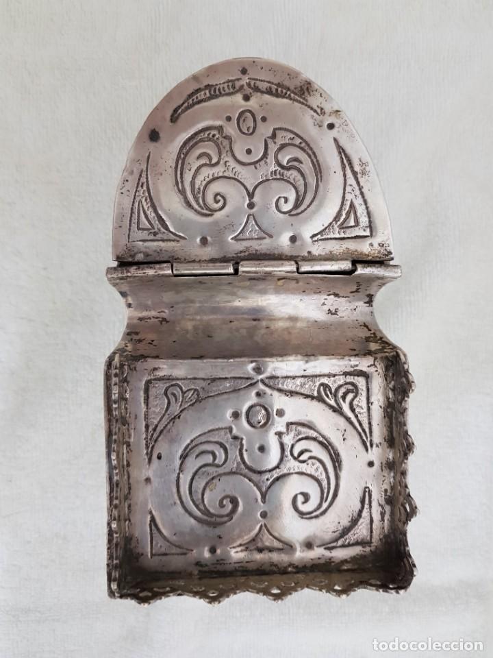 Antigüedades: Naveta de plata. Siglo XVII. Punzones Cisneros-Valladolid-Garrido - Foto 3 - 134805490