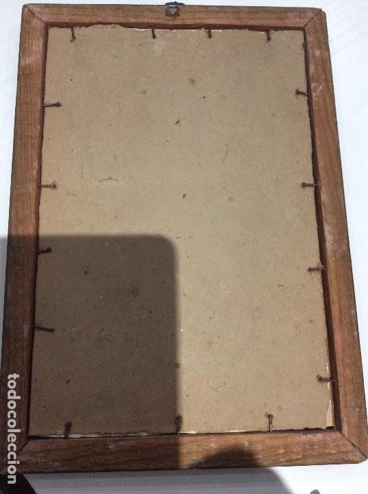 Antigüedades: MARCO DE MADERA CON ESCENA DE PELTRE DE LA ÚLTIMA CENA AÑOS 20. LA FOTOGRAFÍA NO SE VENDE - Foto 7 - 134803146