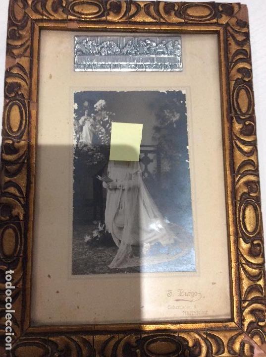 Antigüedades: MARCO DE MADERA CON ESCENA DE PELTRE DE LA ÚLTIMA CENA AÑOS 20. LA FOTOGRAFÍA NO SE VENDE - Foto 12 - 134803146