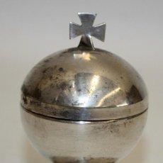 Antigüedades: BONITO COPÓN DE ALTAR- METAL PLATEADO- EPOCA ART-DECÓ.(1920-1930).. Lote 134825518