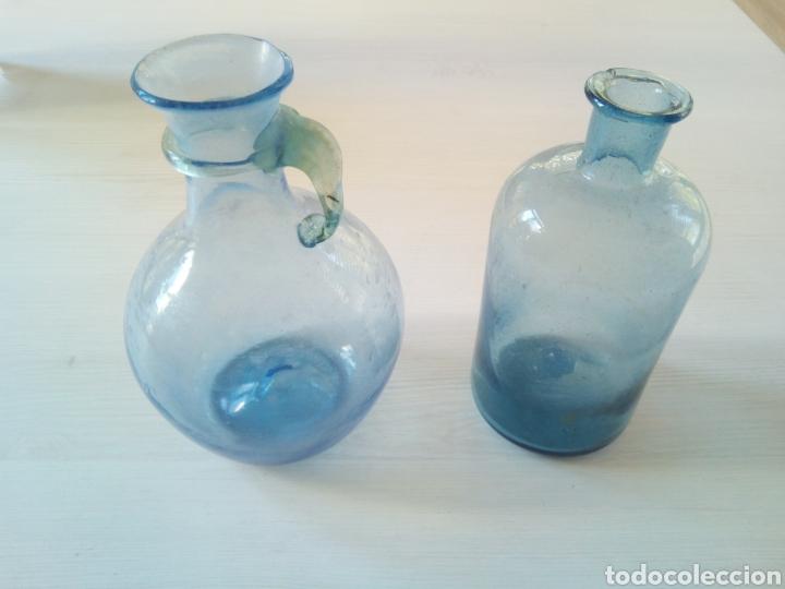 ANTIGUO FRASCO Y JARRA FARMACIA (Antigüedades - Cristal y Vidrio - Farmacia )