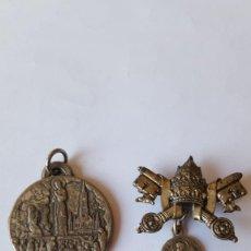 Antigüedades: LOTE RELIGIOSO PAPA PIOXII Y LOURDES . Lote 134833730