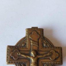 Antigüedades: ANTIGUA CAJA RELIGIOSA CON PUBLICIDAD . Lote 134833818