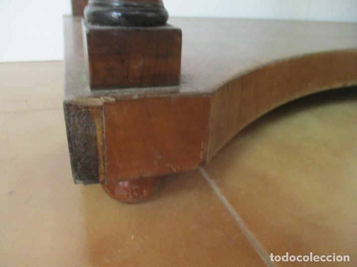 Antigüedades: Pequeño Tocador - Consola con Espejo - Carlos IV - Madera de Caoba - 90 cm Ancho - Principios S. XIX - Foto 3 - 134856686