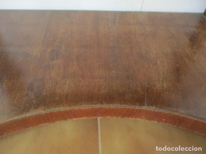 Antigüedades: Pequeño Tocador - Consola con Espejo - Carlos IV - Madera de Caoba - 90 cm Ancho - Principios S. XIX - Foto 4 - 134856686