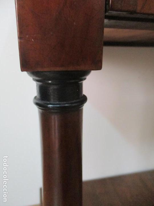Antigüedades: Pequeño Tocador - Consola con Espejo - Carlos IV - Madera de Caoba - 90 cm Ancho - Principios S. XIX - Foto 6 - 134856686