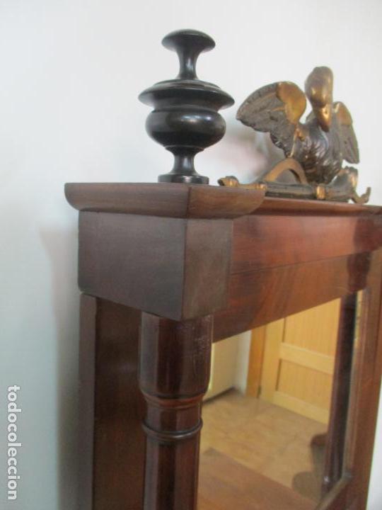 Antigüedades: Pequeño Tocador - Consola con Espejo - Carlos IV - Madera de Caoba - 90 cm Ancho - Principios S. XIX - Foto 15 - 134856686