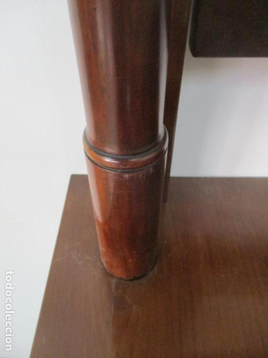 Antigüedades: Pequeño Tocador - Consola con Espejo - Carlos IV - Madera de Caoba - 90 cm Ancho - Principios S. XIX - Foto 16 - 134856686