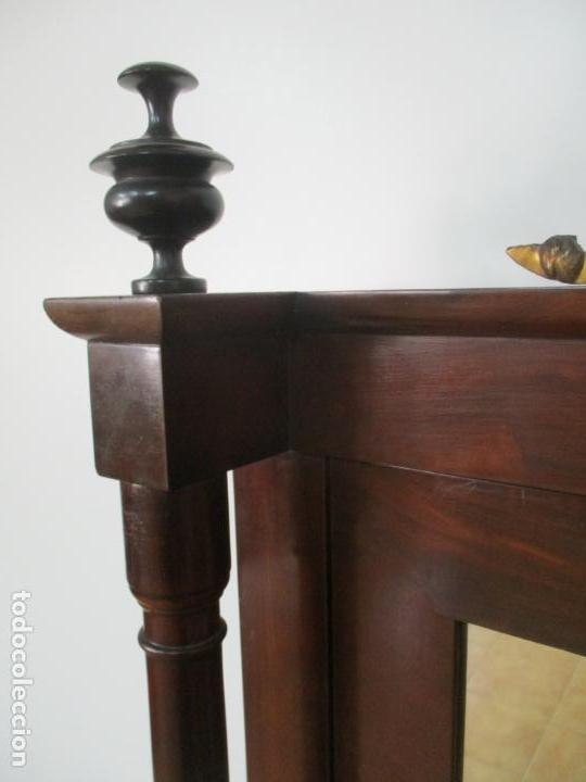 Antigüedades: Pequeño Tocador - Consola con Espejo - Carlos IV - Madera de Caoba - 90 cm Ancho - Principios S. XIX - Foto 17 - 134856686