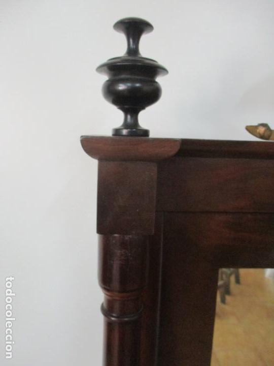 Antigüedades: Pequeño Tocador - Consola con Espejo - Carlos IV - Madera de Caoba - 90 cm Ancho - Principios S. XIX - Foto 18 - 134856686