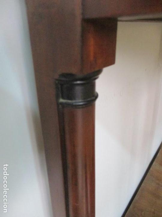 Antigüedades: Pequeño Tocador - Consola con Espejo - Carlos IV - Madera de Caoba - 90 cm Ancho - Principios S. XIX - Foto 23 - 134856686