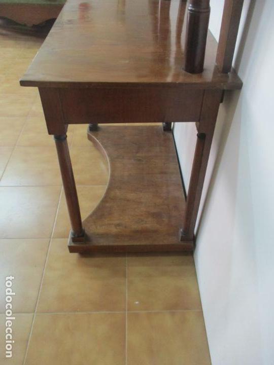 Antigüedades: Pequeño Tocador - Consola con Espejo - Carlos IV - Madera de Caoba - 90 cm Ancho - Principios S. XIX - Foto 25 - 134856686