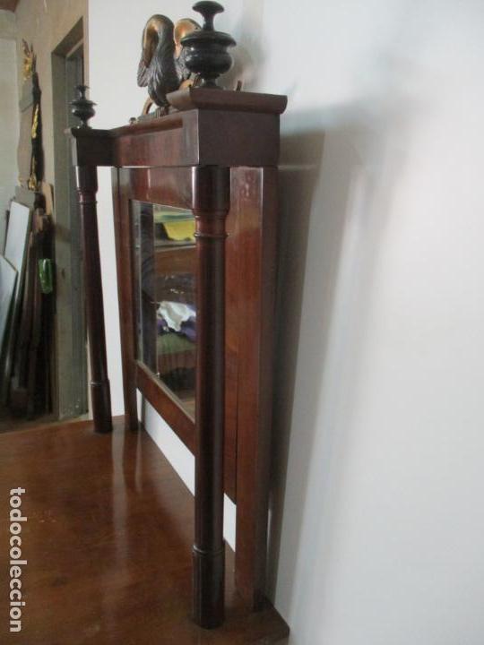 Antigüedades: Pequeño Tocador - Consola con Espejo - Carlos IV - Madera de Caoba - 90 cm Ancho - Principios S. XIX - Foto 26 - 134856686