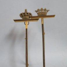 Antigüedades: PAREJA DE PORTAFOTOS CON CORONA REAL Y MARQUESADO. FINALES SIGLO XIX. Lote 147574314