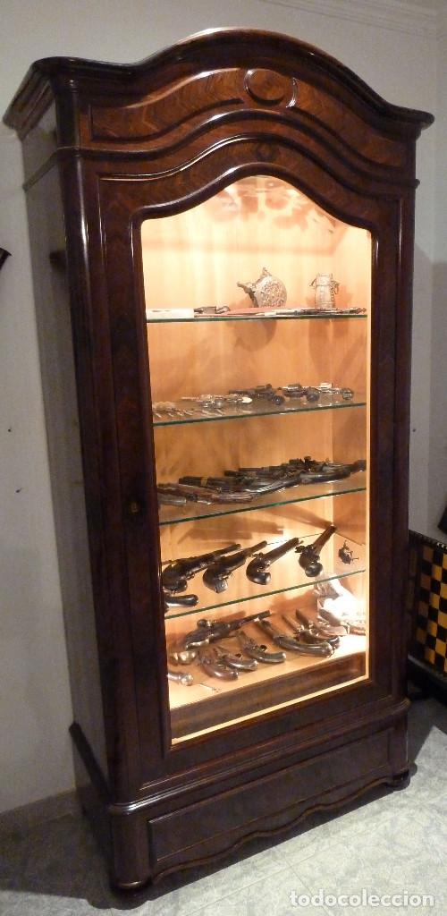 Antigüedades: Armario Vitrina de Palosanto - Foto 2 - 134865694