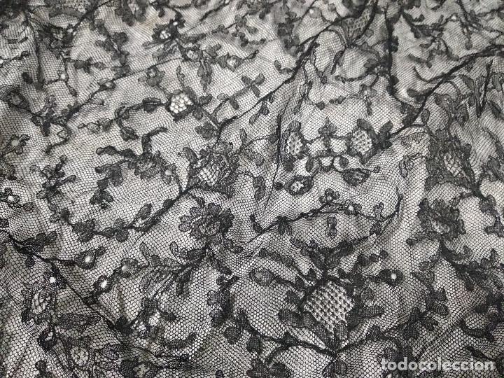 Antigüedades: Gran mantilla negra ppio XX - Foto 2 - 134868954
