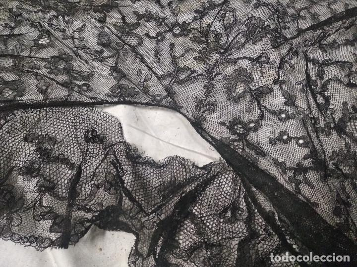 Antigüedades: Gran mantilla negra ppio XX - Foto 4 - 134868954