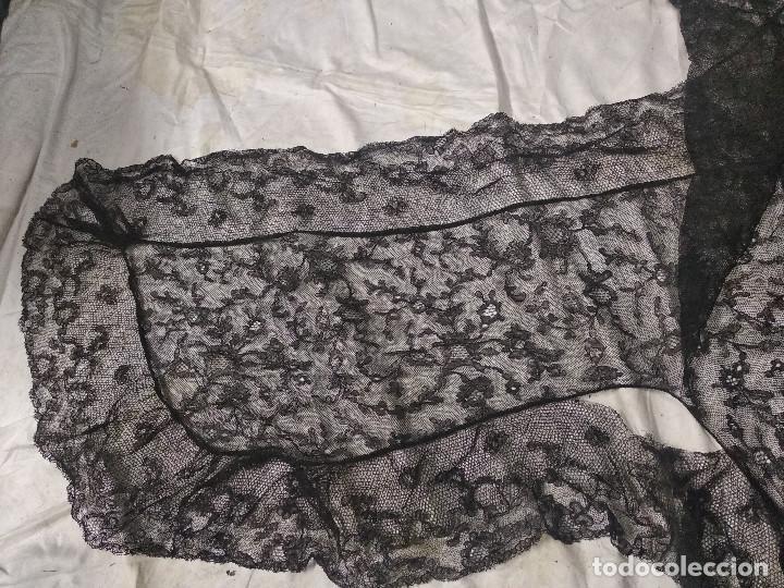 Antigüedades: Gran mantilla negra ppio XX - Foto 5 - 134868954